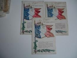 Lot De 3 Mon Drapeau 355 Eme Regiment Infanterie Honneur Et Patrie - Régiments