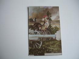 Guerre 14.18 Carte Patriotique Coq Artillerie - Guerre 1914-18