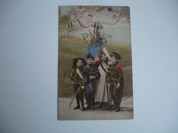 Guerre 14.18 1915 Carte Colorisee Enfant Uniforme Allies Glorieuse Annee - Guerre 1914-18