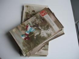 Guerre 14.18 Lot 68 Cartes Patriotique Fantaisie Poilu Enfant Femme Etc.. - Guerre 1914-18