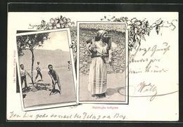 CPA Sao Vicente, Habitacao Indigena, Des Enfants Beim Baseball - Cape Verde