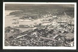 CPA Port Louis, Vue Partielle Aérienne - Maurice