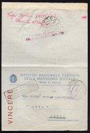 ITALY ITALIA ROMA POLA CENTRO ARSIA 1942. INSTITUTO NAZIONALE FASCISTA DELLE PREVIDENZA SOCIALE - Documenti Storici