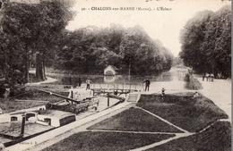 CPA Batellerie - 51 - CHALONS SUR MARNE - L'ECLUSE - Eclusage D'une Péniche - Chevaux De Halage - Châlons-sur-Marne
