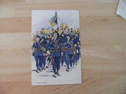 Uniforme Chasseurs Alpins Illustrateur Edmond Lajoux - Uniformes