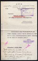 ITALY ITALIA POZZO LITTORIO 1941. ARSA SOCIETA ANONIMA CARBONIFERA MINIERE DI ARSIA - Historical Documents