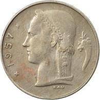 Monnaie, Belgique, Franc, 1957, TB+, Copper-nickel, KM:143.1 - 1951-1993: Baudouin I