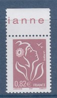 Marianne De Lamouche ITVF 0.82€ Lilas-brun Clair N° 3757 Neuf Gommé - 2004-08 Marianne Of Lamouche