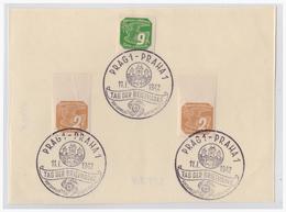 DR- Reich WK II Böhmen Und Mähren (002398) Stempelblatt Mit Sonderstempel NR 81, Prag Tag Der Briefmarke Vom 11.1.1942 - Bohemia & Moravia