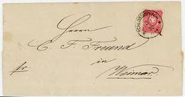 """1882 """"SCHLOSSAPPACH - WISMAR"""" Fernbrief Schönes Siegel - Deutschland"""