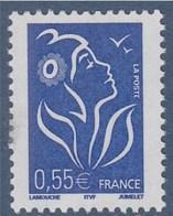 Marianne De Lamouche ITVF 0.55€ Bleu N° 3755 Neuf Gommé - 2004-08 Marianne Of Lamouche
