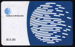 PANAMA PHONECARD C & W LOGO THIRD ISSUE CHIP GEM3 USED B/5.00 - Panama
