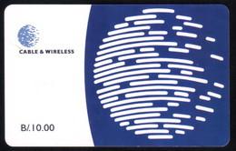 PANAMA PHONECARD C & W LOGO THIRD ISSUE CHIP GEM3 USED B/10.00 - Panama