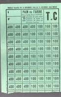 Carte De Ravitaillement Ticket De Pain Ou Farine  1940  (PPP15378) - Vieux Papiers