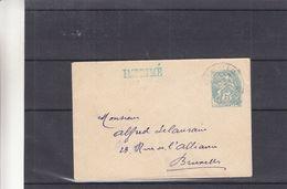 France - Levant - Lettre Avec Oblit Jerusalem - Entiers Postaux - Imprimé - Exp Vers Bruxelles - Levant (1885-1946)