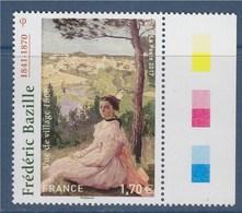 = Jean Frédéric Bazille Peintre Impressionniste Né En 1841 à Montpellier Et Mort Au Combat N° 5122 Avec Bord De Feuille - Unused Stamps