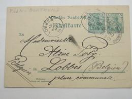 1901 , KÖLN -Dortmund / ZUG 60 , Klarer Stempel Auf Karte - Brieven En Documenten