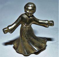 ANCIEN PETITE SCULPTURE METAL ARGENTE UN ANGE ENFANT / BE - Altri