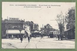 CPA - HAUTS DE SEINE - LA GARENNE COLOMBES - RP DE CHARLEBOURG & BD NATIONAL - Marché, Manège, Tramway - E.M./7015 - La Garenne Colombes