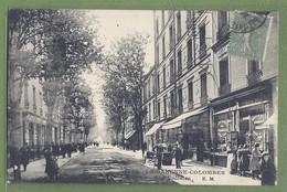 CPA - HAUTS DE SEINE - LA GARENNE COLOMBES - RUE VOLTAIRE - Commerces, Belle Animation - E.M./7003 - La Garenne Colombes