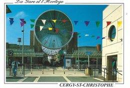 95 - CERGY-St-CHRISTOPHE - La Gare. L'Horloge - Cergy Pontoise