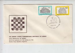 ARGENTINA  1982 - Annullo Speciale - Scacchi - Campionato Panamericano - Scacchi