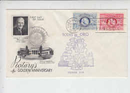 CUBA  1955 - FDC - Golden Anniversary - ROTARY - Rotary, Lions Club