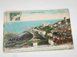 PRINCIPATO DI MONACO - LA TURBIE VIAGGIATA 21.03.1909 COLORI VG - Le Terrazze