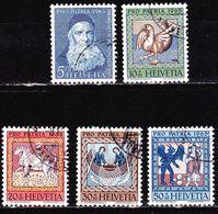 Suisse Schweiz 1965 Pro Patria Kunst Und Kunsthandwerk Kompletter Satz Michel 814 / 818 - Pro Patria