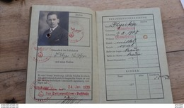 ALLEMAGNE DEUTSCHES REICH : Passeport REISEPASS 1939 ............... KK ............men - Documenti Storici