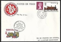 1978 - GREAT BRITAIN - FDC [Railways] + SG X844+985+Railway Letter + LLANFAIR CAEREINION - 1971-1980 Em. Décimales