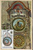 38833 Ceskoslovensko, Maximum 1979 ,prague Astronomical Clock,horloge Astronomique,Prager Rathausuhr,vintage Card - Uhrmacherei