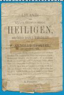 Holycard    Litanie    36 Heiligen    Antwerpen - Images Religieuses