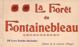 77-SUPERBE CARNET DE 24 CPA DE LA FORET DE FONTAINEBLEAU - Fontainebleau