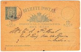 Entier Postal Portugal Angra Do Heroísmo Dez Réis Ilha Terceira Lisboa - Postwaardestukken
