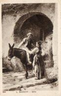 [DC7617] CPA - ANIMALI - ASINO - L. BIANCHI - IDILIO - Viaggiata 1918 - Old Postcard - Burros