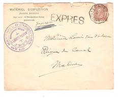 PR6031/ TP 61 S/L.Exprès En-Tête Marériel D'Exposition C.T.octogonal BXL  Nord 1900 V.Malines C.T.Octogonal Malines - 1893-1900 Schmaler Bart
