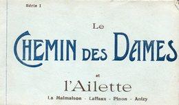 02-SUPERBE CARNET COMPLET DE 20 CPA LE CHEMIN DES DAMES ET L'AILETTE - LA MALMAISON - LAFFAUX - PINON - ANIZY - Frankrijk