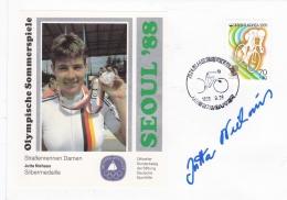 Corea Cover 1988 Seoul Olympic Games - Jutta Niehaus Silver Signature (G95-12) - Sommer 1988: Seoul