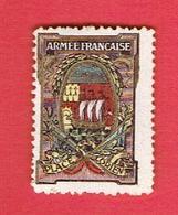 VIGNETTE DELANDRE GUERRE 1914 1918 PLACE DE LORIENT MORBIHAN ARMEE FRANCAISE WWI POSTER STAMP CINDERELLA - Vignette Militari