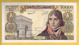 BILLET FRANCAIS - 10000 Francs Bonaparte 4.4.1957 SUP+ - 1871-1952 Anciens Francs Circulés Au XXème
