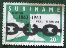 20 Ct Emancipatie; NVPH 397 Mi 434 1963 Used / Gestempeld SURINAME / SURINAM - Suriname ... - 1975