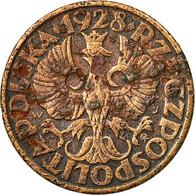 Monnaie, Pologne, 5 Groszy, 1928, Warsaw, TB, Bronze, KM:10a - Polonia