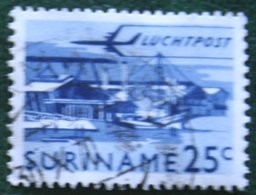 25 Ct Luchtpostzegel Airmail Airplane NVPH Nr: LP38 LP 38 1965 Used / Gestempeld SURINAME / SURINAM - Surinam ... - 1975