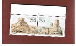 SAN MARINO - UNIF.1495.1496 - 1996 25^ ANNIV. RAPPORTI SAN MARINO-CINA. 2 VALORI SE-TENANT  - NUOVI ** - San Marino