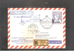 Österreich 1962 - Ballon Postflug - On Registered Cover (to See) - Par Ballon
