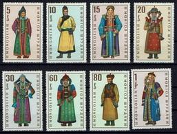 Mongolei Mongolia 1969 - Trachten - MiNr 539-546 - Kostüme