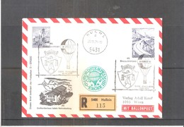 Österreich 1971 - Ballon Postflug - On Registered Cover (to See) - Par Ballon