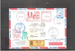 Österreich 1979 - Ballon Postflug - Pro Juventute Wipa 81 - Vorarlberg - On Registered Cover (to See) - Par Ballon