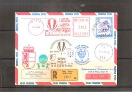Österreich 1979 - Ballon Postflug - Pro Juventute Wipa 81 - Salzburg - On Registered Cover (to See) - Par Ballon
